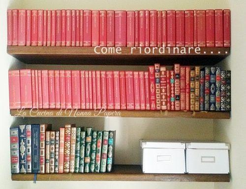 Come riordinare il soggiorno e la libreria